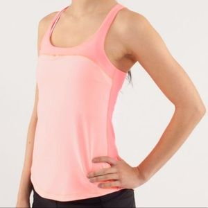 Lululemon Run First Base Tank Top in Coral